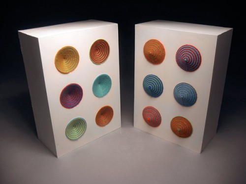 Oscillator Cabinets - Arty Needlepoint Speakers