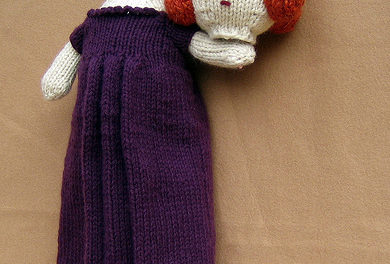 She Knit a Catherine Howard Doll and Yes, She's Beheaded