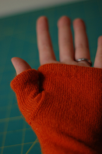 How To Make Arm Warmers From Old Sweaters