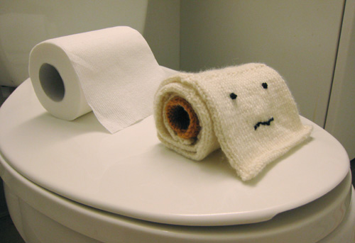 Would You Use Toilet Paper That's Knitted?