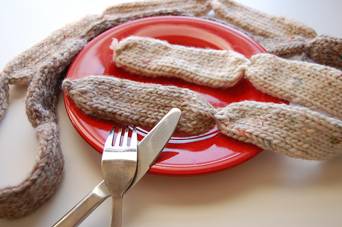 Knitted Sausage Neck Scarf - So Weird!