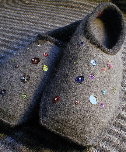 Angora & Cashmere Felted Slippers