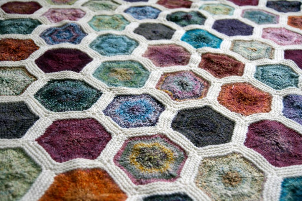 This Knit Hexagon Flower Afghan Is Everything and Proves That Knitting Rules!