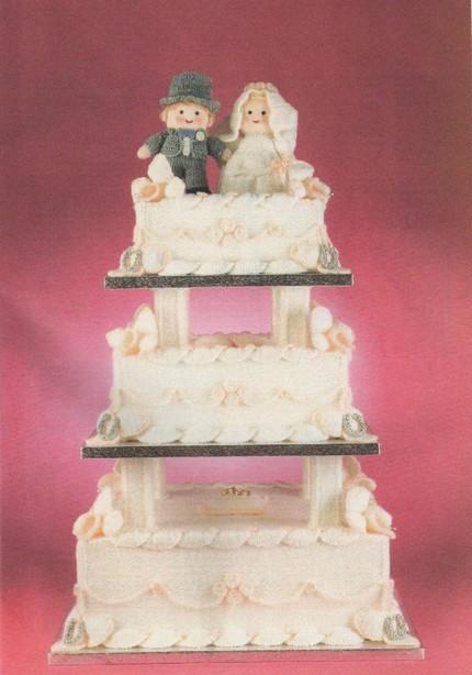 Knit a Vintage Three-Tier Wedding Cake … Pattern Saved!