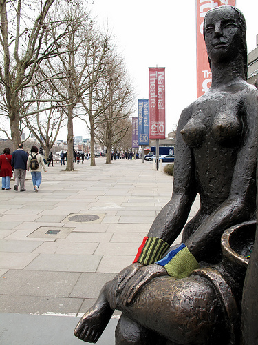 She Put Wrist Warmers On This Outdoor Sculpture