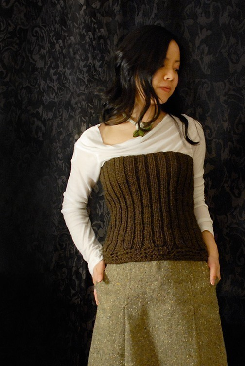Beautiful Ribbed Bustier - Easy To Knit, Get the Pattern!