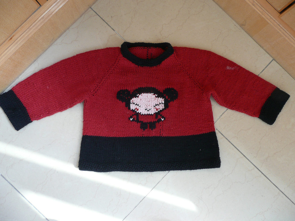 Adorable Knitted Pucca Sweater