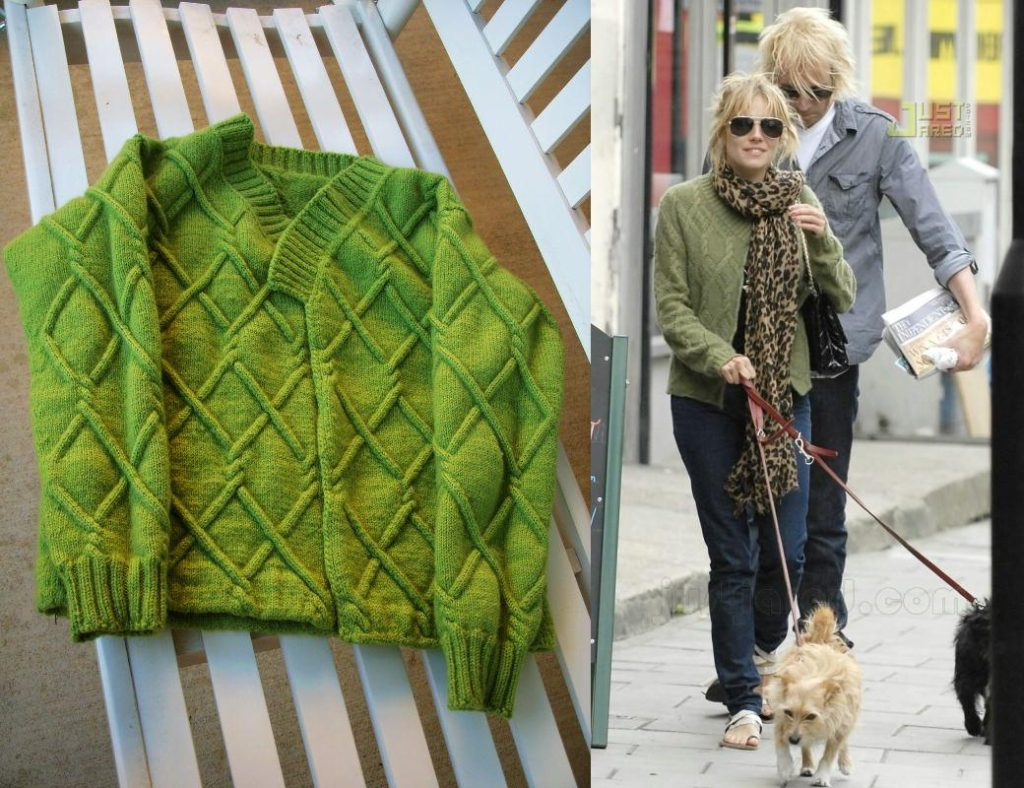 Daughter Falls In Love With Sienna Miller's Sweater, Mom Knits It From Scratch!