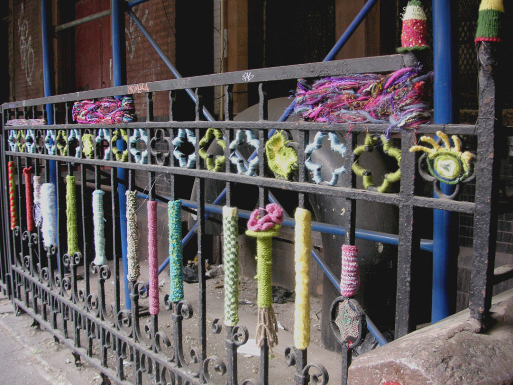 Yarn Bomb Spotted On 9th Street In NYC