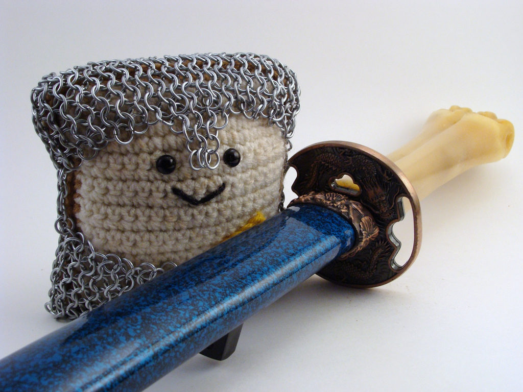 Crochet, Toast & Chainmail ... That's Sir Toastee To You!