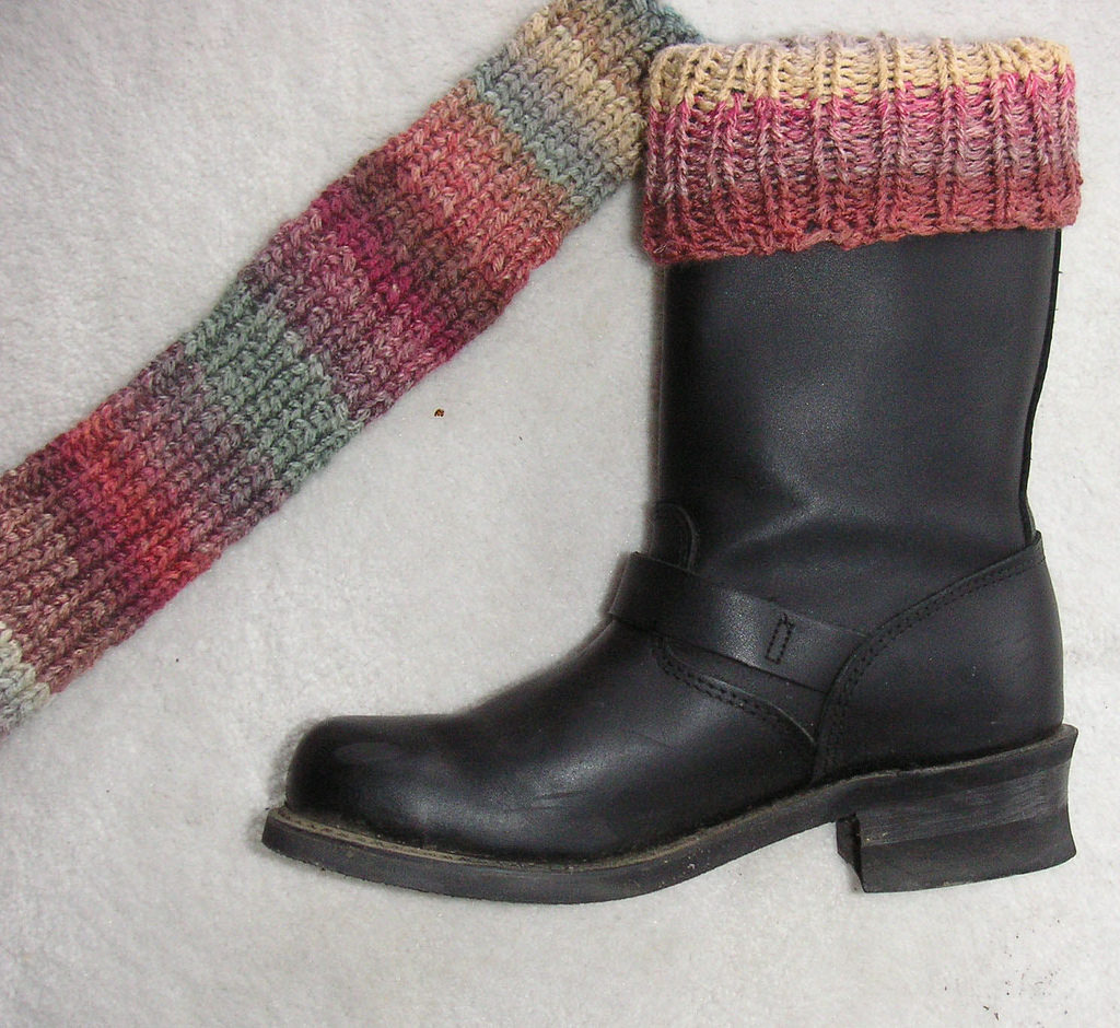 Simple Knit Bootliners - Great First Project!