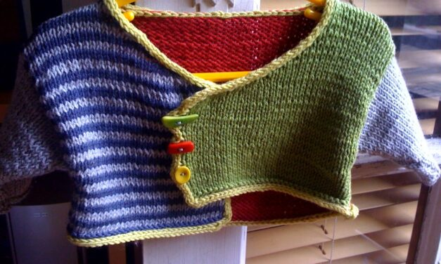 She Knit a Fun Color Block Cardigan And You Can Too – Cute!