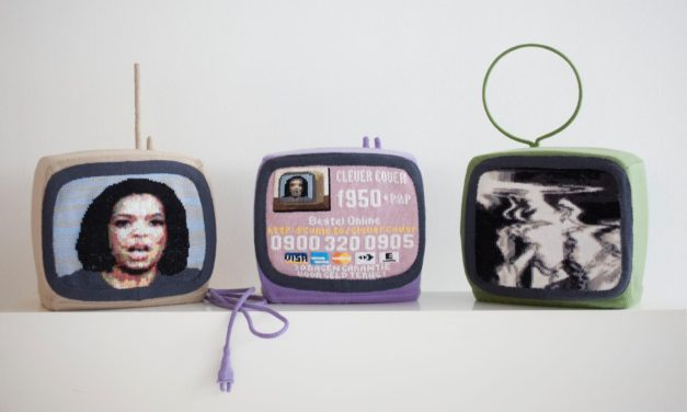 Esmé Valk's Triptych of Knitted Televisions Inspired By a Sad Story …