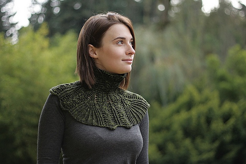 Three Knit Edwardian Steampunk Collar Patterns