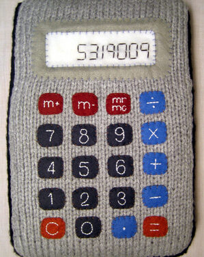Knitted Calculator Spelling … Yes, You Read That Right …