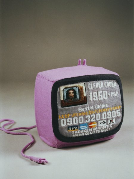 Esmé Valk's Triptych of Knitted Televisions Inspired By a Sad Story ...