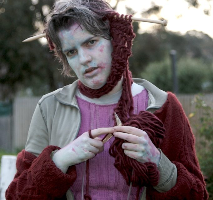 Love Knitting and Cosplay? Here's the Perfect Zombie Costume For You! Braaaaains!