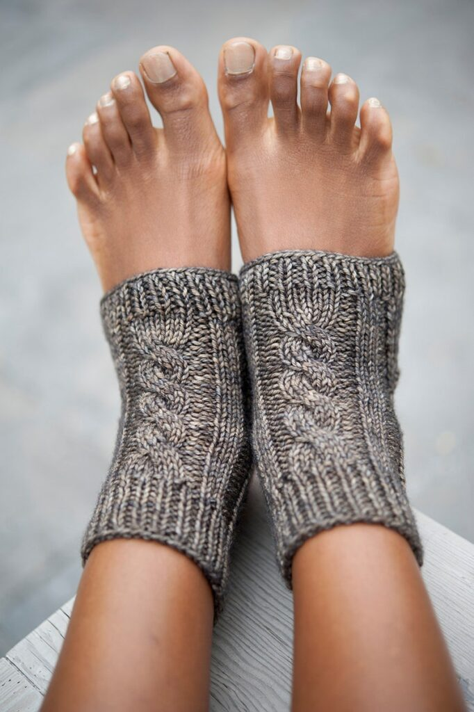 Patterns To Knit or Crochet a Pair of Pedicure / Yoga Socks!