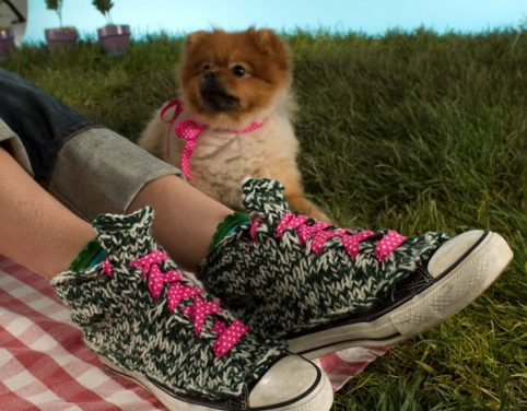 She Knit a Pair of Converse High-Tops and Yes, There Is A Pattern!