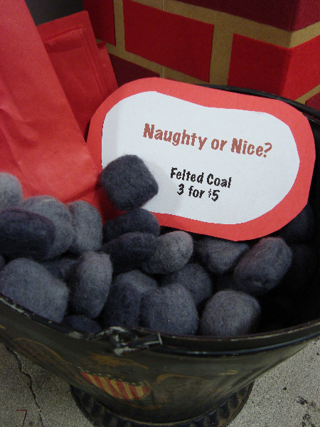 Felted Coal For Naughty Knitters