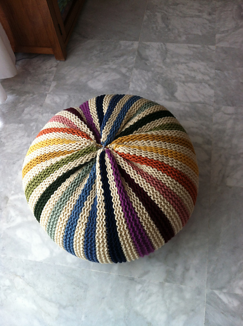 Everyone Needs a Knitted Pouf in Their Life