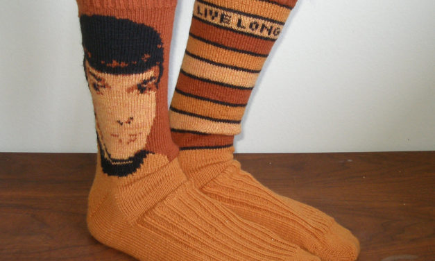 Knitted Spock Socks – A True Classic! Bonus: Free Star Trek Charts!