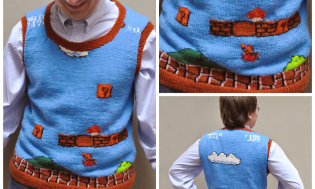 Knit a Super Mario Sweater Vest – Free Pattern Now Available!