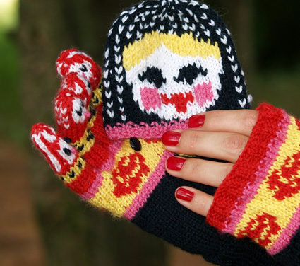 Knit a Pair of Matryoshka Mitten Gloves by Jaala Spiro – Free Pattern!