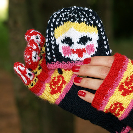 Knit a Pair of Matryoshka Mitten Gloves by Jaala Spiro - Free Pattern!