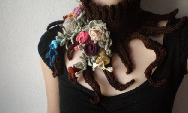 Knit & Crochet Scarflette by Irregular Expressions