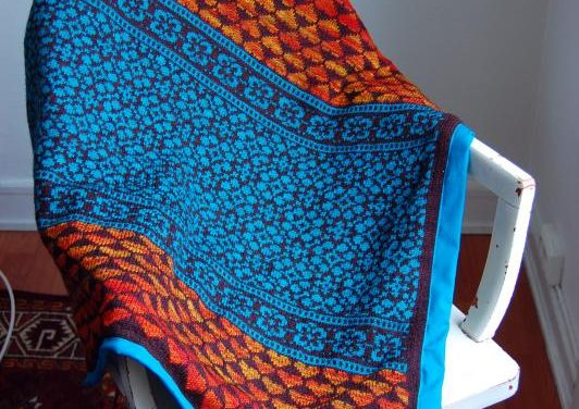 The Latvian Garden Blanket – Gorgeous Design, Free Knit Pattern!