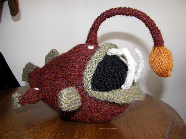 Knit a Bessie the Anglerfish