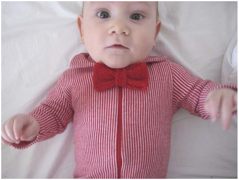 Knit Bow Tie For a Baby