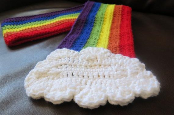 The Cutest Cloud Scarf Ever … Knit & Crochet Patterns Available!