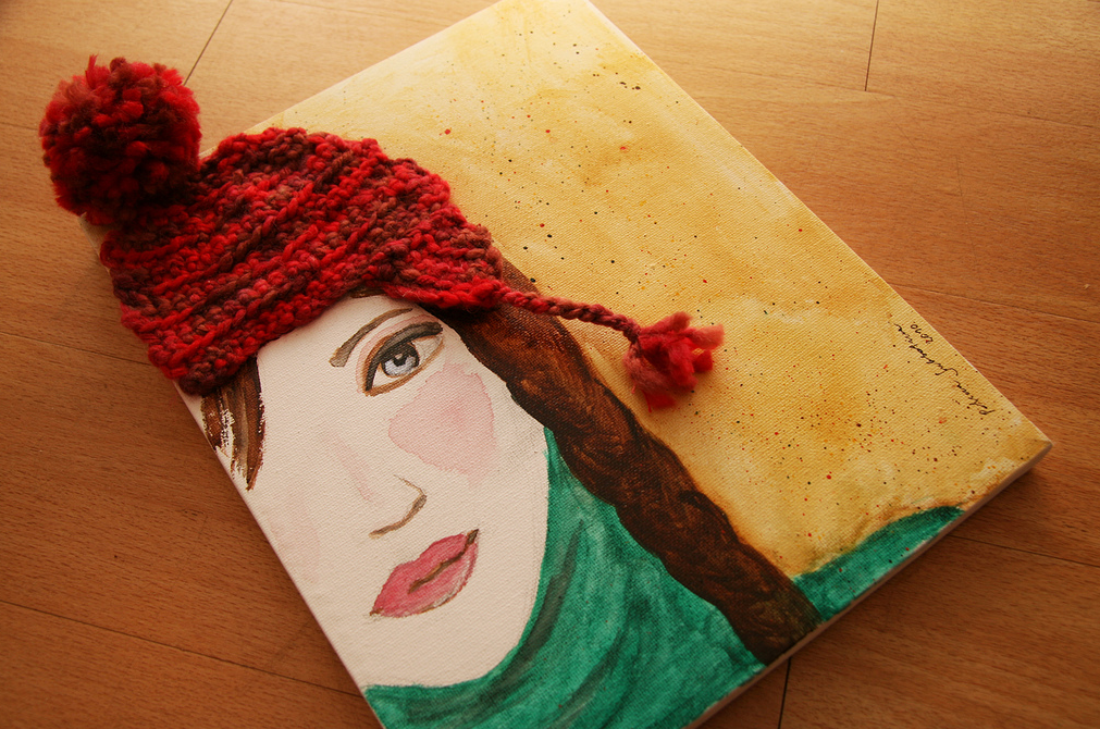 This Portrait Wears a Crocheted Hat