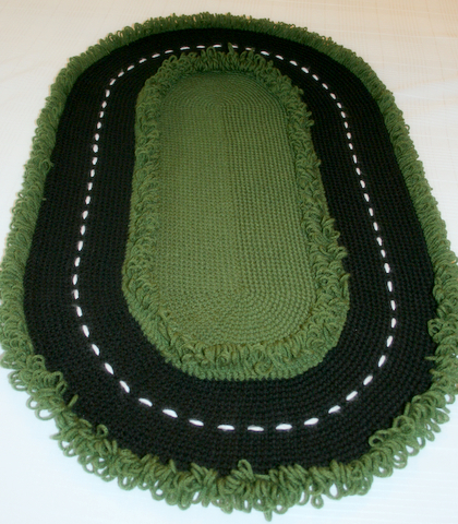 Crochet Racetrack Rug for the Playroom or Travel - FREE Pattern