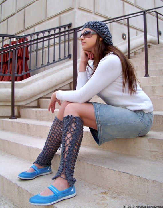 Knit a Pair of Lacey Legwarmers - Great For Summertime!