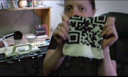CRAFT Video: Machine-Knitted QR Code Scarf