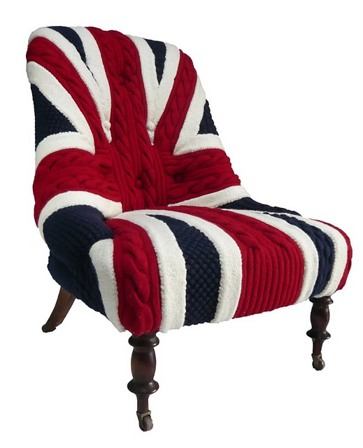 Meet Albert, Melanie Porter's First Hand-Knitted Union Jack Chair