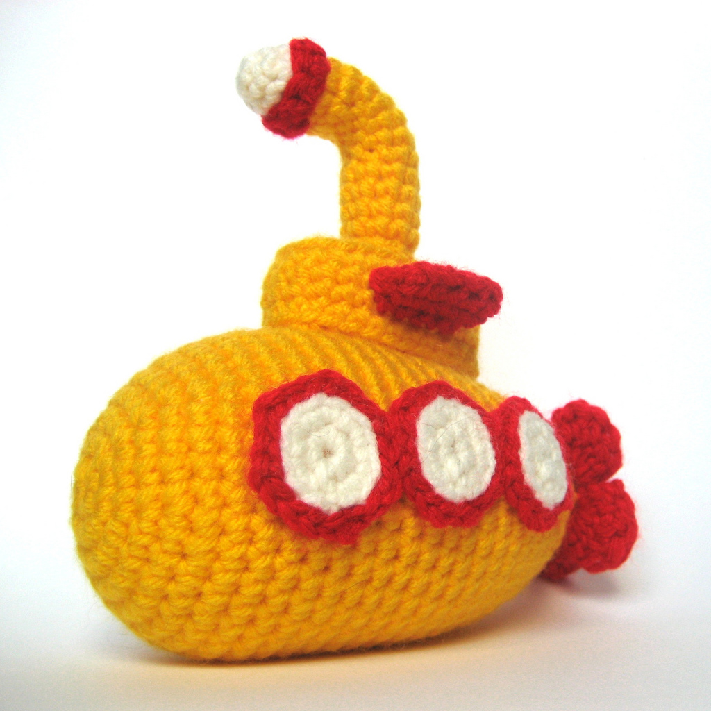 We All Live In A Yellow Submarine, Get The Crochet Amigurumi Pattern!