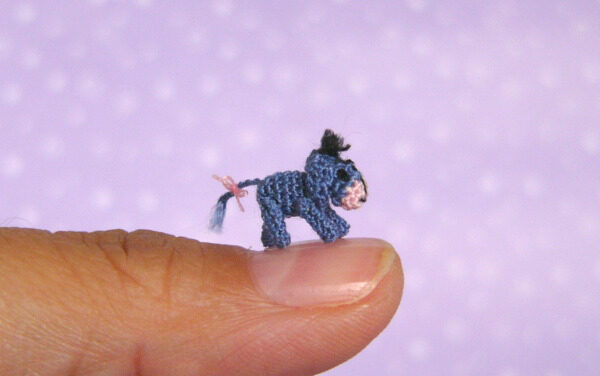 Meet the Tiniest Eeyore Ever Crocheted!