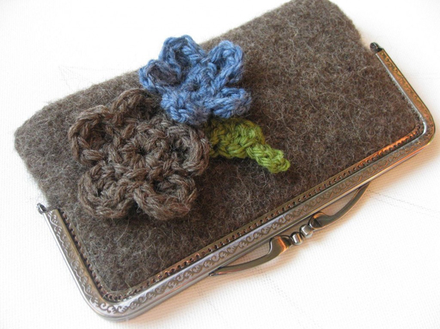 lovely felted clutch by martasbags