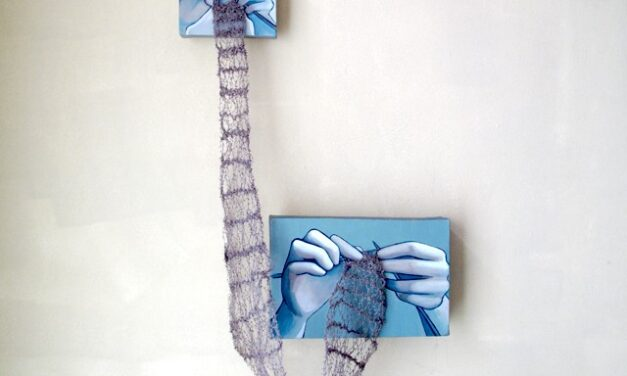 'Knit Together' – Rania Hassan Mixes Paint and The Art of Knitting