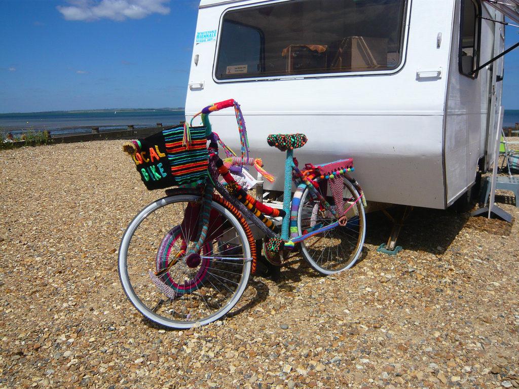 Yarn Bombed Bike - So Colorful!