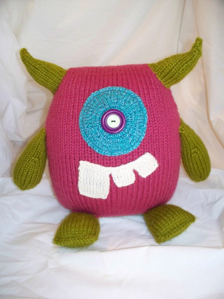 Knitted Cyclops Monster - Handmade Creativity At Its Best!