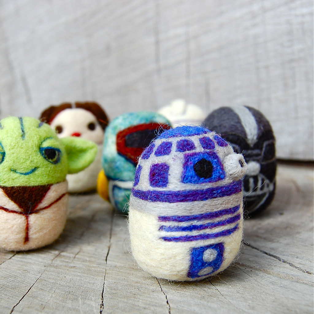 Sassy Star Wars Eggs Felted By Asher Jasper