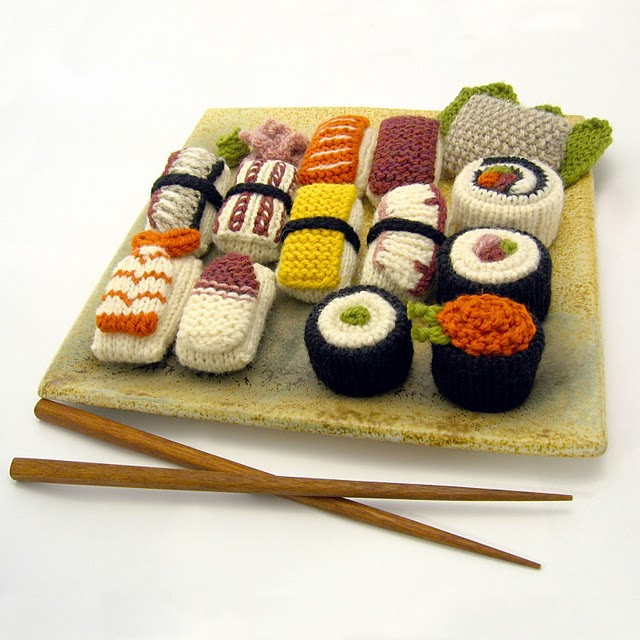 Knit a Sushi Set - Over a Dozen of Your Favorites!