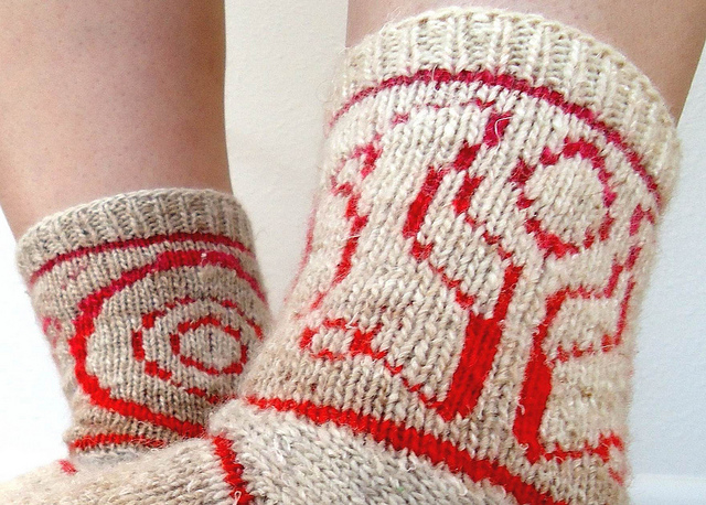 TRON SOCKS! Pattern Available, Thank you, Master Control.