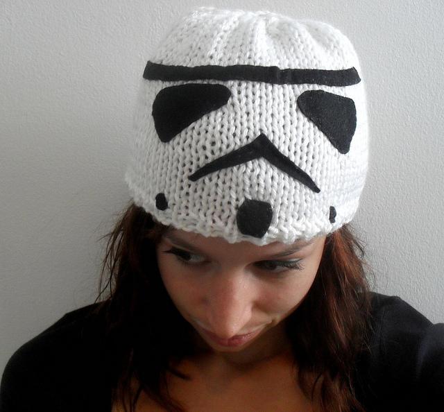 She Knit a Stormtrooper Hat