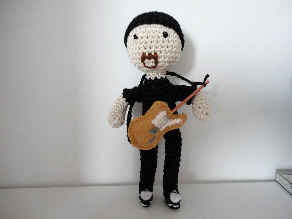 U2's The Edge Like You've Never Seen Him, a Crocheted Amigurumi!